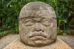 Olmec basalt head in Mexico