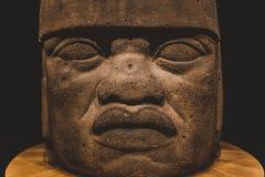 Olmec kolossalt huvud 2 Arkivfoto