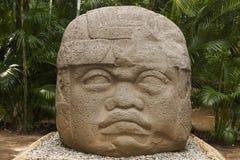 Olmec, Tabasco, Villahermosa, México, arqueologia, turismo imagens de stock royalty free