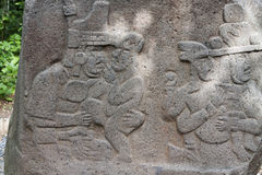Olmec tabasco, Villahermosa, Mexico, arkeologi, turism Arkivbilder