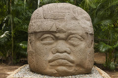 Olmec, Tabascosaus, Villahermosa, Mexico, Archeologie, Toerisme Royalty-vrije Stock Afbeeldingen