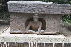 Olmec, Tabascosaus, Villahermosa, Mexico, Archeologie, Toerisme Stock Afbeelding