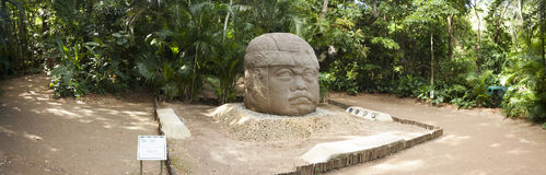 Olmec un'archeologia di Venta Villahermosa Tabasco Messico della La della cultura Immagini Stock Libere da Diritti