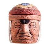 Olmecgezicht stock afbeeldingen