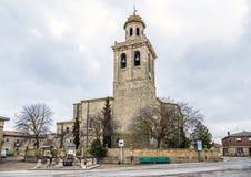 Olmillos de Sasamon church, Burgos Stock Photos