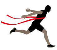 Olmpic runner crossing the finish line,  illustration. Runner crossing the finish line;  illustration Stock Photography