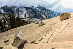 Olmsted Point Yosemite. This image of a mountain scene was captured at Olmsted Point in the Yosemite National Park in California. This photograph was taken in stock image