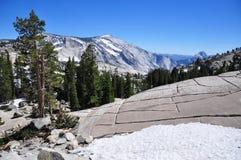 Olmsted punkt, Tioga passerande, Yosemite nationalpark Arkivfoton