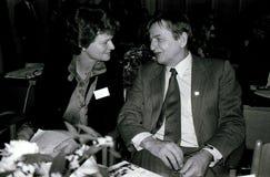 OLOF PALME AND GRO HARLEM BRUNTLUND Royalty Free Stock Photo