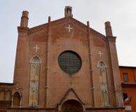 Ologna,意大利:都市建筑学在市中心 库存图片