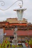 Ologna,意大利:都市建筑学在市中心 免版税库存照片