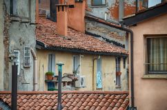 Ologna, Italy: urban architecture in the city centre Stock Photos