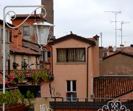 Ologna, Italy: urban architecture in the city centre Royalty Free Stock Images