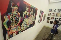 Ologramma del burattino di mostra della pittura Fotografie Stock Libere da Diritti