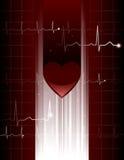 Ologramma del cuore Immagini Stock