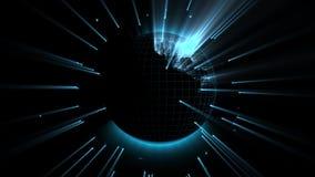 Ologramma del globo di Digital stock footage