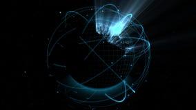 Ologramma del globo di Digital illustrazione di stock