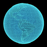 Ologramma della terra su fondo nero Immagine Stock Libera da Diritti