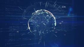 Ologramma di Digital di un globo illustrazione vettoriale
