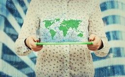 Ologramma di globalizzazione fotografia stock libera da diritti
