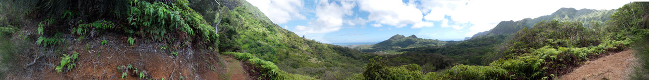 Hawaii Mount Olomana Panorama Royalty Free Stock Photos