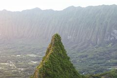 Olomana peak Stock Photo
