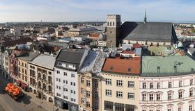 Olomouc from above Royalty Free Stock Images