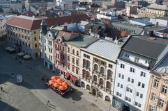Olomouc from above Royalty Free Stock Image