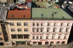 Olomouc from above - upper Square Stock Image