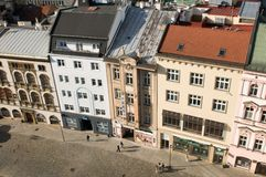 Olomouc from above - upper Square Stock Photos