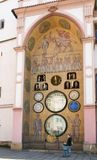 Olomouc city s Astronomical clock - detail Royalty Free Stock Photo
