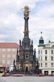 Olomouc - columna de la trinidad santa Imágenes de archivo libres de regalías