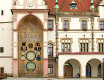 Olomouc. Czech Republic. Town Hall and astronomical clock of Olomouc, Czech Republic Royalty Free Stock Images