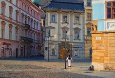 OLOMOUC, CZECH REPUBLIC-AUGUST 26, 2017: View of a street in the center of the czech city Olomouc Stock Images