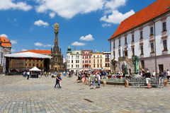 Olomouc, Czech Republic. Event in the main square in the old town of Olomouc, Czech Republic Stock Photo