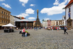 Olomouc, Czech Republic. Event in the main square in the old town of Olomouc, Czech Republic Royalty Free Stock Image