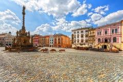 Olomouc, Czech Republic. One of the main squares in the old town of Olomouc, Czech Republic. HDR image Stock Image