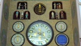 Olomouc, Czech Republic September 2018: old astronomical clock in the center of Olomouc.  stock video footage