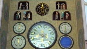 Olomouc, Czech Republic September 2018: old astronomical clock in the center of Olomouc.  stock video