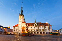 Olomouc, Czech Republic. Town hall in the main square of the old town of Olomouc, Czech Republic stock images