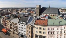 Olomouc desde arriba Imágenes de archivo libres de regalías