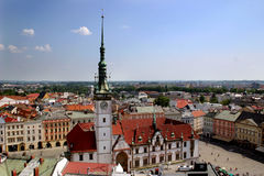 Olomouc - stadhuis Stock Foto