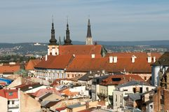 Olomouc Town Hall -city  roofs Royalty Free Stock Photos