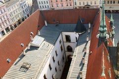 Olomouc urząd miasta - dachy Zdjęcie Royalty Free
