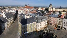 Olomouc van hierboven Stock Foto's