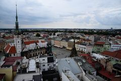 Olomouc view from the tower stock photo