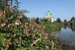 Olonec. Cathédrale de notre Madame de Smolensk Photographie stock libre de droits