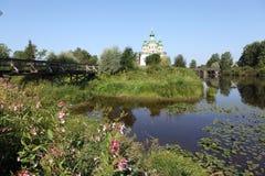 Olonec. Kathedraal van Onze Dame van Smolensk Stock Afbeelding
