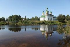 Olonec. Kathedraal van Onze Dame van Smolensk Stock Foto's