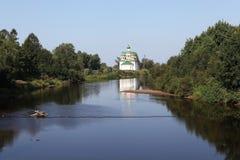 Olonec. Kathedraal van Onze Dame van Smolensk Stock Afbeeldingen